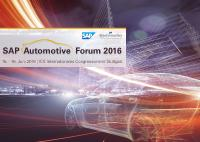 Westernacher Consulting at the SAP Automotive Forum 2016 in Stuttgart, Germany