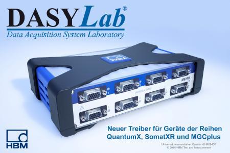 Neuer Treiber für HBM QuantumX, SomatXR und MGCplus Serien