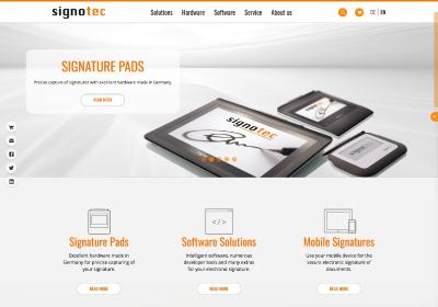signotec presents new Website
