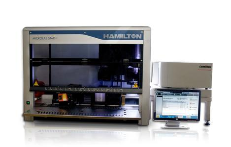 The HAMILTON STAR for automated HLA testing.