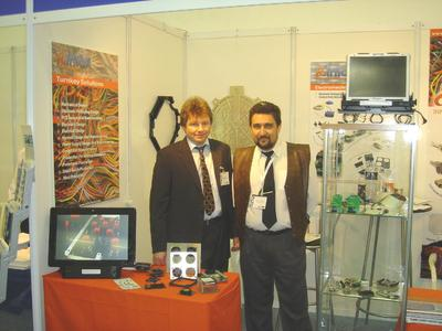 The picture enclosed was made at the exhibition in Tel Aviv / Israel at the stand from the InTal Tech company. Left Mr. Peter Thoma, General Manager THOPTEC GmbH, right Mr. Alex Vasilevsky, General Manager InTal Tech