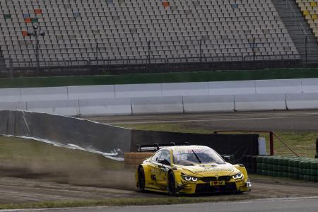 Timo Glock, Timo Scheider, DEUTSCHE POST BMW M4 DTM, Hockenheim, offroad