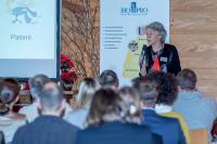 Gastreferentin Monika Reuschling vom Diagnostik-Branchenführer Roche Diagnostics Schweiz gab Einblicke in neue Testentwicklungen des Unternehmens. © BioLAGO e.V.