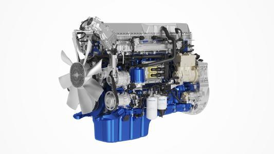 Der weiterentwickelte D11-Motor von Volvo Trucks erfüllt die neue Stufe D der Abgasnorm Euro 6 und enthält eine Reihe von Verbesserungen, um die Einsparung von Kraftstoffkosten zu ermöglichen.