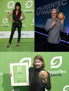 "Steady fighters for a better environment! GreenTec Award winners NENA, Rea Garvey and Thomas D. from Stuttgart's cult band ""Die Fantastischen Vier"""
