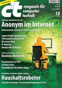 Titelbild der aktuellen c't-Ausgabe 18/2011