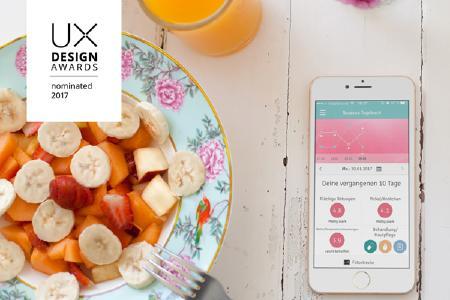 anyMOTION mit Galderma Rosacea-Tagebuch für UX Design Awards nominiert