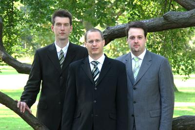 Dr. Martin Steinebach, Patrick Wolf und Konstantin Diener (von links)