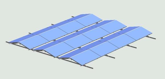 Mit dem neuen Ost-West-System für die Flachdach-Montage von ALTEC können Flachdächer bis in die Randbereiche mit PV-Modulen bestückt werden