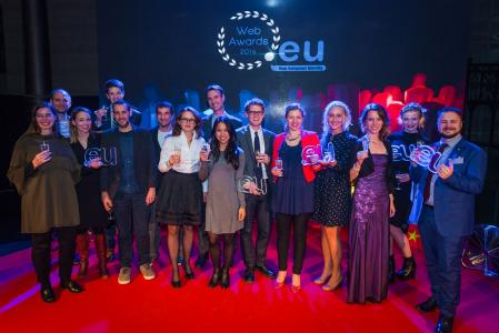 Glückliche Gewinner des .eu Web Award...