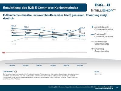 B2B E-Commerce Konjunkturindex 11+12-2014 - Indexverlauf