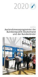 AUMA Auslandsmesseprogramm 2020