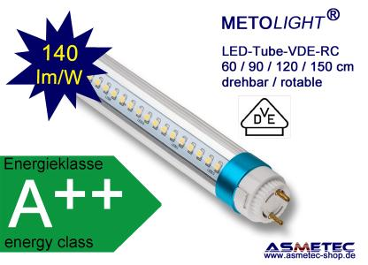 METOLIGHT LED Röhre VDE, klare Hülle, drehbar