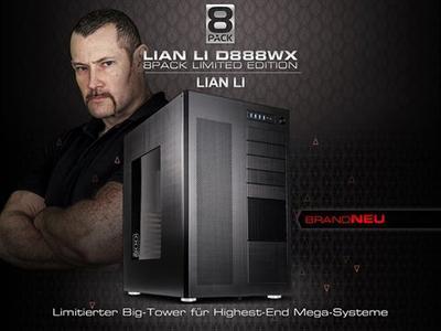Exklusiv bei Caseking! Der riesige Alu-Full-Tower D888WX von Lian Li in der limitierten 8Pack Edition