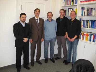 Von links nach rechts: Thiago Souza Araujo, Prof. Dr. Jörg Becker, Dr. Ricardo Schuch, Martin Matzner, Matthias Voigt
