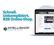 IntelliShop Plug 'n' Play:  Zum eigenen Online-Shop in nur 10 Tagen!  IntelliShop Plug'n'Play umfasst eine B2B-Commerce Komplett-Lösung mit den drei IntelliShop Komponenten PROCESS, CONNECT und INSIGHT in einer SaaS-Lösung inklusive Hosting und wird damit zur ganzheitlichen Lösung für ihren Vertrieb