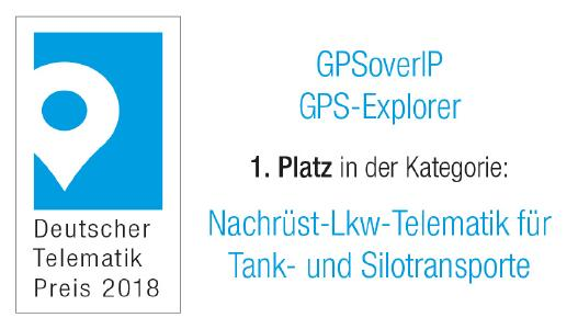 Deutscher Telematik Award 2018 GPSoverIP Silotransporte