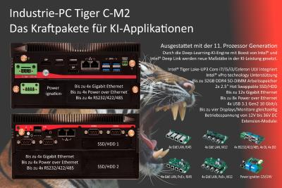 Industrie-PC Tiger: Kraftpakete für KI-Applikationen