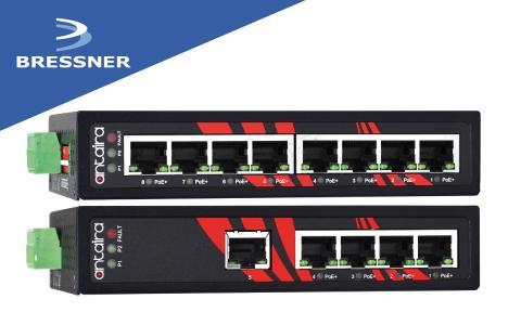 BRESSNER arbeitet zukünftig mit Antaira Technologies zusammen und erweitert sein Produktportfolio um eine Vielzahl an Unmanaged Ethernet Switches