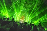 MAYDAY lased off with lasers made by the Laserworld Group