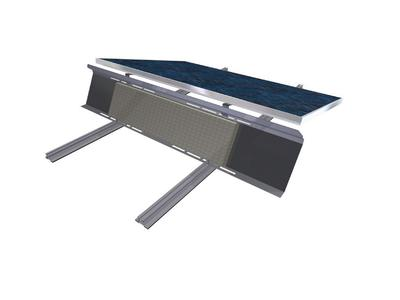 Das neue Flachdachmontage-System zur Süd-Aufständerung von ALTEC ermöglicht eine optimale solare Flächennutzung bei der Flachdachmontage