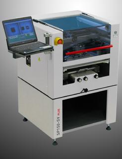 Der SP150, ein halbautomatischer Drucker mit Vision, automatischer Positionskontrolle und integrierter Schablonenreinigung, ist neu mit einer elektronischen Rakeldruck-Regelung erhältlich.