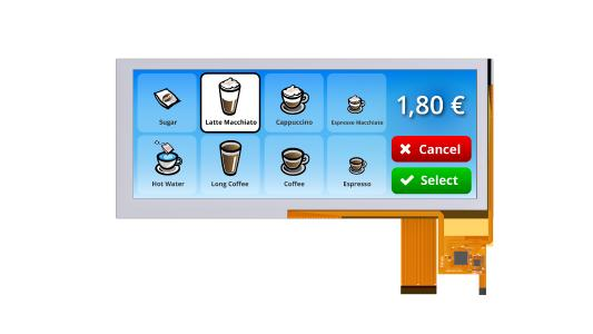 EVERVISION presents the new Bar-Type TFT Displays