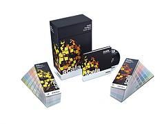 Kompakt: die Scala Farbbox. Alle Scala Farbtöne sind in den beiden Farbfächern verfügbar und auf der CD digital enthalten.