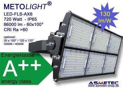 METOLIGHT LED Flutlicht FLS-AX6, 720 Watt, 86400 lm