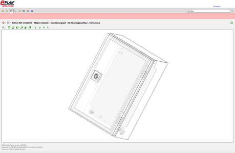 Mit dem 3D-Viewer lassen sich verschiedene Ansichten wie Front-, Seiten- oder isometrische Ansichten einfach per Mausklick aufrufen, Foto: Eplan Software & Service GmbH & Co. KG