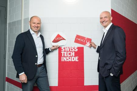 Photo© HeiQ: Julien Born - CEO of The LYCRA Company and Carlo Centonze - Co-founder and CEO of HeiQ Group Leaders of HeiQ & The LYCRA Company announce collaboration.