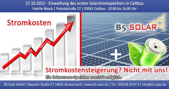 Erster Solarstromspeicher in Cottbus