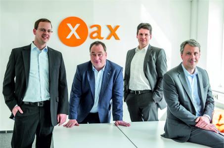 Geschäftsführung der xax, v.l.: Stefan Scholz, Theile Geber, Tobias Klinkenberg, Matthias Krist