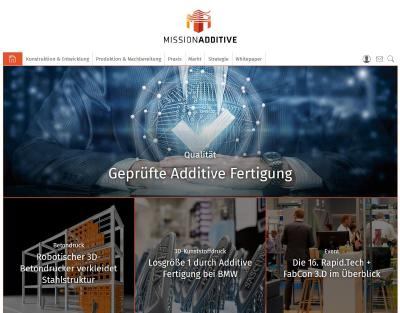 "Neues Portal ""Mission Additive"""