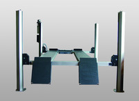 Four Column Lift CARLIFT II 3,5 ALU, consisting of bolted aluminum components.Sufficient for loads up to 3.5 t