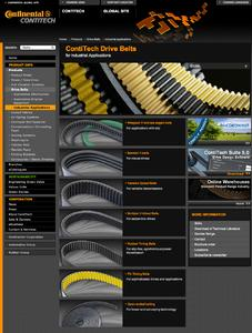At www.contitech.de/ind-en users and sales partners can find detailed in-formation about drive belts of the ContiTech Power Transmission Group for industrial applications. Photo: ContiTech