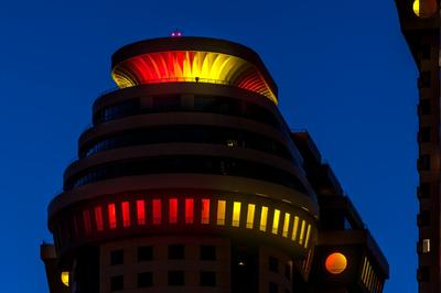 HARMAN's Martin Professional Exterior 200 Fixtures Light Russian Residential Complex in Celebration of World Cup Final