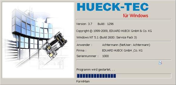 HUECK-TEC: Umfangreiche Software für Kunden aus dem Metallbau zum Planen, Kalkulieren und Bearbeiten von Profilkonstruktionen