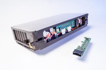 High energy density automotive battery module with cost-optimized battery monitoring electronics developed by Fraunhofer IISB with Dräxlmaier (Germany), Panasonic (Japan), and IFEVS (Italy). Picture: Fraunhofer IISB