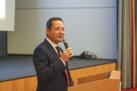 Michael Reichle, Geschäftsführer der Dr. Städtler Transport Consulting GmbH & Co. KG, bei der Eröffnung des Städtler-Logistik-Treffs / Bild: Städtler-Logistik