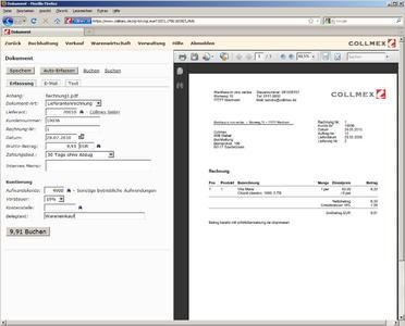 Screenshot Collmex_Dokumentenverwaltung