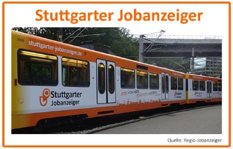 Transportmittelwerbung Stuttgarter Jobanzeiger