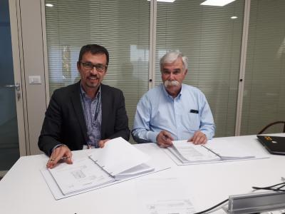From left to right: Filippo Verlezza, Area Sales Manager, SMS group; Norberto Gonzales, Project Manager, Ternium.