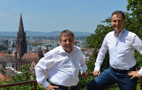 """Heinz Rohmer & Marcus Munzert, Inhaber des Softwarepatents """"Computerimplementiertes Verfahren zum Generieren von Computerprogrammcode"""""""