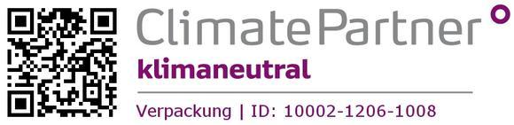Muster Label für klimaneutrale Verpackungen