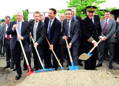 Eurocopter breaks ground for new Paris-Le Bourget industrial site© Copyright Eurocopter, Amélie Laurin