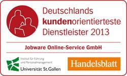 Jobware ist die kundenorientierteste Jobbörse Deutschlands!
