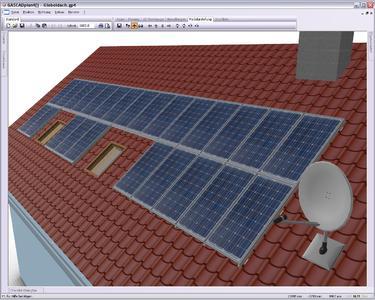 GASCADplan4[solar] Polysun Inside baut auf die bei GASCADplan4[] bewährte Benutzeroberfläche und dem bei GASCAD üblichen detailgetreuen Abbilden von Photovoltaikanlagen sowie solar-thermischen Kollektoren auf.