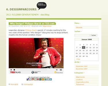 Das Blog zum Designparcours 2008, gestaltet und entwickelt von achtQuark