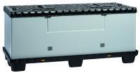 Der MegaPack BETA 1800 x 800 x 800 überzeugt durch sein einfaches und cleveres Handling. Für einen platzsparenden Leerguttransport muss der Faltring lediglich gefaltet und zwischen Palette und Deckel verstaut werden.